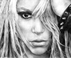 Shakira pencil drawing