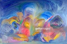 Abstract Oil Painting Multicolored Texture Background Pattern Credit: Lisa-Blue