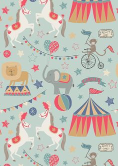 Lewis & Irene Spring/Summer 2016 'Vintage Circus' fabric collection www.lewisandirene.com