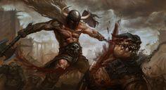 Men in fantasy art