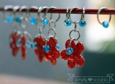 No tutorial here, just the idea that it would be fun to make some stitch markers.