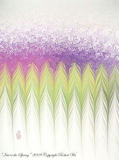 "Fine Hand ""Marbled Graphics""™ since 2000, Original Marbling Art & Marbled Paper www.studioRobertWu.com (home website)"