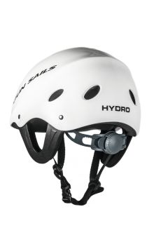HYDRO-SCHUTZHELM WEISS This Helmet is ideal for all performance water sports particularly when high impact water landings are part of the action such as Windsurfing, Kitesurfing, Wakeboarding and other high speed watersports.