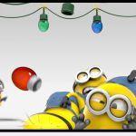 Minions Change a Christmas Light -