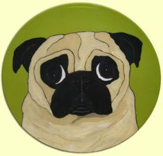 Funky Pug Plate Pipsqueeks Pinterest Dog