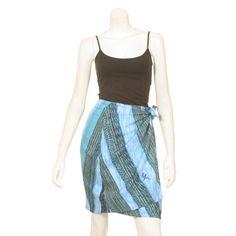 Mamo Chevron Tapa Wrap Around Skirt