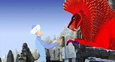 Azur & Asmar (2006) - Azur offre les cornes de gazelle