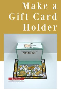 How to Make a Gift Card Holder with a Fancy Fold - Lisa's Stamp Studio - - Learn how to make a gift card holder with a fancy fold. If you love creative ways to give money and gift cards you're in for a treat with this DIY project! Card Making Tutorials, Card Making Techniques, Making Ideas, Gift Cards Money, Free Gift Cards, Gift Card Cards, Greeting Cards, Fancy Fold Cards, Folded Cards