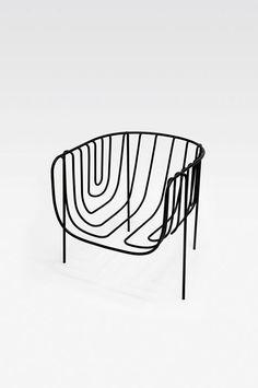 Thin Black Lines chair - Oki Sato / Nendo