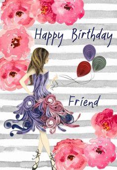 Birthday Ecards for Females Happy Birthday Wishes Bestfriend, Happy Birthday Ecard, Birthday Wishes Greetings, Happy Brithday, Happy Birthday Wishes Images, Birthday Sentiments, Birthday Wishes Quotes, Birthday Msg, Birthday Week