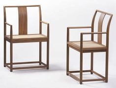 contemporary wooden chair with armrests A LA RECHERCHE DU TEMPS PERDU  EXH Design
