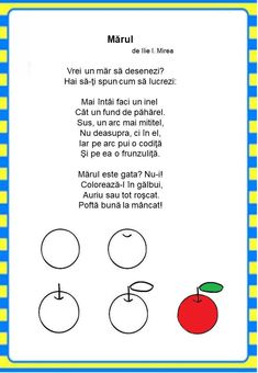 Învățăm jucându-ne: Fructele - Logorici Kids Poems, Math For Kids, Preschool Activities, Songs, Crafts, Activities For Kids, Manualidades, Kindergarten Activities, Handmade Crafts