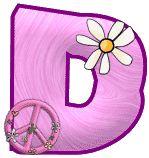 Alfabero hippy rosa. | Oh my Alfabetos!