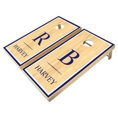 Navy Initials & Name Rustic Wood Wedding Games - tap/click to get yours right now! #rustic, #custom #cornhole #sets, #wood, Cornhole Set, Cornhole Boards, Bridal Bingo, Wood Monogram, Personalized Housewarming Gifts, Wedding Games, Wedding In The Woods, School Colors, Sticker Shop