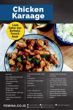 Indonesian Food Traditional, Diy Food, Tandoori Chicken, Food And Drink, Menu, Cooking Recipes, Favorite Recipes, Diet, Snacks