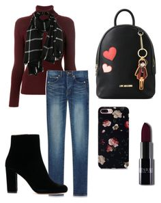 """""""Outfits for cold trip"""" by evipane on Polyvore featuring Balenciaga, Yves Saint Laurent and Love Moschino"""