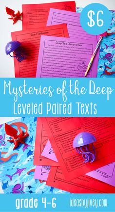 Paired Texts [Print & Digital]: Mysteries of the Deep Leveled for Grades Writing Mentor Texts, Mentor Sentences, Social Studies Resources, Teaching Social Studies, Science Resources, Writing Mini Lessons, Writing Anchor Charts, Reading Workshop, Giant Squid