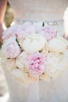 Ivory and Blush Bridal Bouquet | Marisan Photography | TheKnot.com