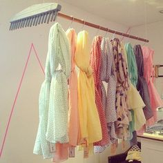 Beck Sondergaard scarf display-womenswear SS13-thehambledon (The Hambledon)