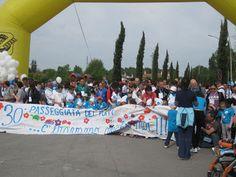 Partenza della 30ma Passeggiata dei Puffi.