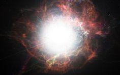 Formación de polvo alrededor de una explosión de una supernova
