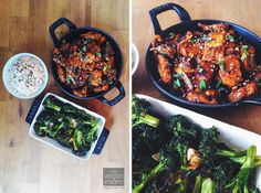 Vegan Gochujang Tempeh + Blasted Broccoli with brown rice (and toasted sesame seeds). I was in need of something saucy and savory that day Healthy Korean Recipes, Vegan Dinner Recipes, Vegetarian Recipes, Vegan Meals, Healthy Dinners, Korean Food, Recipes Using Tofu, Seitan Recipes, Whole Food Recipes