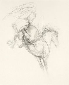 Bucking (2009) I love this drawing it shows the power in the back legs of a horse and the hheights it can reach.