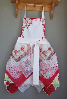 Handkerchief Apron Farmhouse Style Full by GreenbriarCreations
