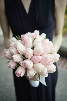 July Wedding Flower Bouquet Bridal Flowers Arrangements Pink Tulips Bridesmaids Bouquets