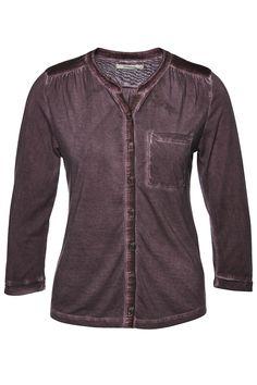 Henley blouse silk mix mal tinto Women Blusen