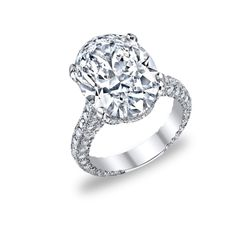 Custom 9.43 carat oval diamond ring by Images Jewelers
