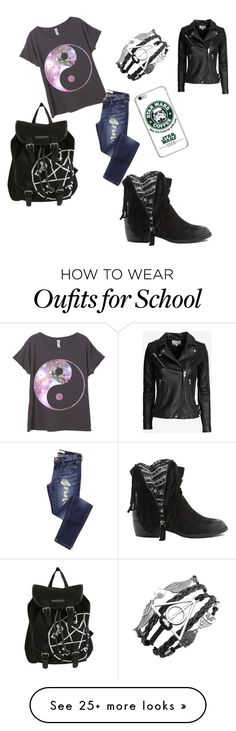 """what I'd were to school"" by thelovelyoutcast on Polyvore featuring Qupid, IRO, women's clothing, women, female, woman, misses and juniors"