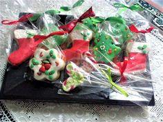 Μπισκότα σε χριστουγεννιάτικα σχέδια για δώρο ή κέρασμα Gifts, Presents, Favors, Gift