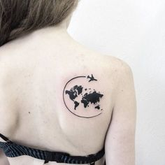 World Map Tattoo by victoriascarlet93