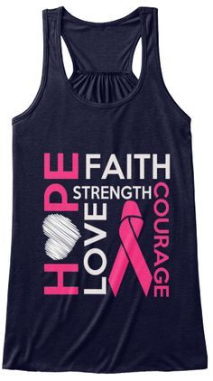 Breast Cancer Women Tanks And T Shirts Midnight Women's Tank Top Front Breast Cancer Gifts, Breast Cancer Walk, Breast Cancer Support, Breast Cancer Survivor, Cancer Awareness Shirts, Breast Cancer Awareness, Breast Cancer Inspiration, Just For You, T Shirts