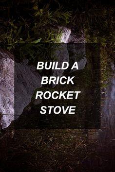 Build a Brick Rocket Stove | Survival Shelf | Survival & Preparedness Links