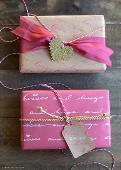 ✂ That's a Wrap ✂ diy ideas for gift packaging and wrapped presents - Make Your Own Love Letter Gift Wrap