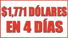 DESCUBRE COMO LOGRÉ GANAR $1,771 DÓLARES EN 4 DIAS POR INTERNET