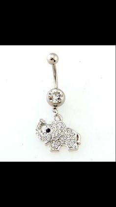 Elephant bellybutton ring. I had this until my boyfriend broke it.. :c