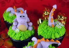 How to Make Dragon Cupcake Toppers (just in time for Chinese New Year)