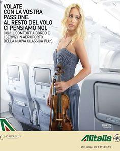 Anna Tifu, un violino per l'Alitalia - Pubblicità