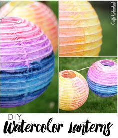 DIY Paper Lanterns with Watercolor - Crafts Unleashed