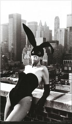 Elsa Peretti in a 'Bunny' costume by Halston, New York 1975 - photography by Helmut Newton