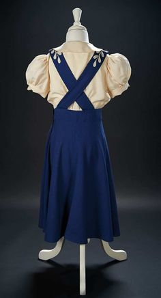 """Blue Woolen Jumper Worn by Shirley Temple in the 1940 Film """"Young People"""" $1000+"""