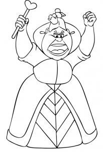 Queen of Hearts Alice in Wonderland Coloring Pages Dragoart