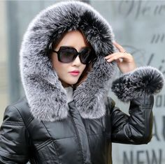 Cheap collar names, Buy Quality jacket fur collar directly from China collar lace Suppliers: winter duck down jacket women long coat parkas thickening Female Warm Clothes Large fox fur Natural fur collar High Quality Coats For Women, Jackets For Women, Clothes For Women, Fashion Mode, Style Fashion, Hooded Winter Coat, Duck Down Jacket, Womens Parka, Fox Fur Coat