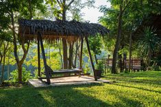 take a seat. River Camp, Spring Nature, Take A Seat, Glamping, Pergola, Thailand, Outdoor Structures, Gallery, Tiny Cottages