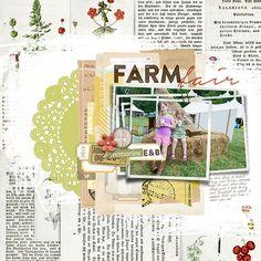 #collage #art #scrapbook page from Katie Pertiet at DesignerDigitals.com