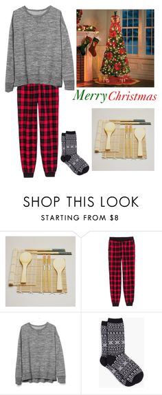 """""""Merry Christmas"""" by x-the-marvelous-unknown-x ❤ liked on Polyvore featuring Cost Plus World Market, Gap, Talbots and Improvements"""
