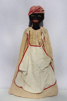 Vintage Black Americana Laundry Bag Clothespin Bag by cybersenora